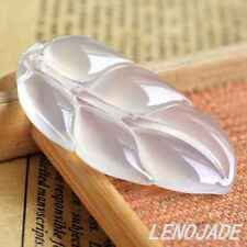 Beautiful Fine Jade Leaf Pendant ICY Jadeite Hand-Carved 100% Natural Handmade A