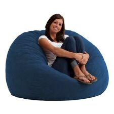 King 5' Fuf Comfort Suede Bean Bag Chair Perfect Lounge Memory Foam Chair