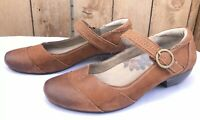 Taos Virtue Brown Leather Mary Janes Women's Sandals Size US 8