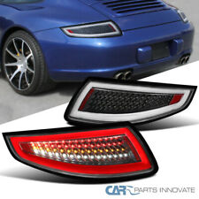 For 05-08 Porsche 911 997 GT3 GT2 Turbo Carrera Targa Black LED Tail Lights Pair
