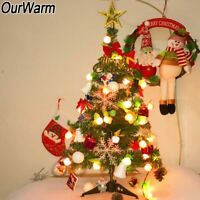 Artificial Small Mini Christmas Tree With LED Lights Tabletop Ornaments Decor
