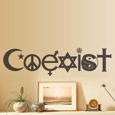 Coexist DESIGN WALL STICKER VINYL GLASS WALL STICKER DECAL DECOR LOUNGE