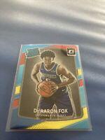 2017-18 Donruss Optic DeAaron Fox Red Yellow Rated Rookie #196 Sacramento Kings