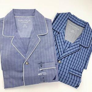 NWT Nautica Pajama Shirt Short Sleeve men's sleepwear Nightshirt Size S M