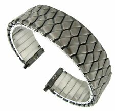 17-22mm Speidel Twist-O-Flex Dark Gray Brass Stainless Steel Watch Band 1281/04