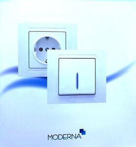 MODERNA Schalter Steckdosen SET, Ausschalter, günsan, Einschalter, Lichtschalter