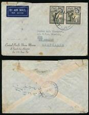 FIJI to NEW HEBRIDES 1957 PRINTED ENV.PACIFIC UNION MISSION...SEA WATER STAINING