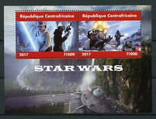 Central African Republic 2017 MNH Star Wars 2v M/S Movies Films Stamps