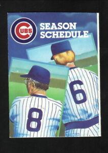 Chicago Cubs--1986 Pocket Schedule--True Value