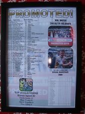 MK Dons League Two promotion 2019 - framed print