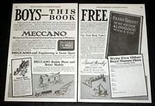 1915 OLD MAGAZINE PRINT AD, MECCANO MODELS, BOYS- ENGINEERING IS GREAT SPORT!