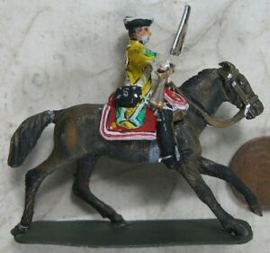 Vintage Solid Cast Lead Mounted Soldier Stadden Colonel Series II Jan 1964
