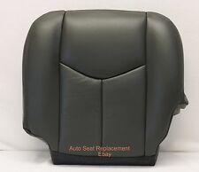 2005 2006 Chevy Silverado 1500 2500 Driver Synth Leather Seat Cover Dark Gray