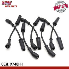 8x 9748HH AC Spark Plugs Wires Fits For GMC Chevy Tahoe Cady Hummer 5.3 6.0 V8