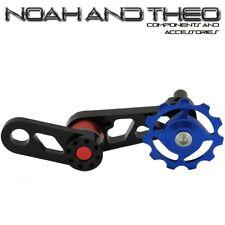 CATENA singola velocità Convertitore Tenditore MTB Bicicletta singulator Cercatore Blu Rosso