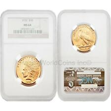 USA 1932 Indian Head Gold $10 Gold NGC MS64