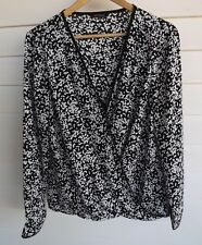 Portmans Women's Black & White Blouse Top - Size 14