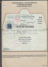 K1458) KGF-post LP-lettera Internment Camp madill Provisional 11.12.43 > sborsati