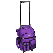 Everest Deluxe Wheeled Backpack Dark Purple 2day Ship