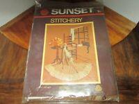 "Sunset Stitchery Sealed ""Cozy Corner"" Crewel Kit"