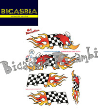 8366 - KIT ADESIVI STICKER PICCHIO FOGLIO 20X24 - VESPA - BICASBIA