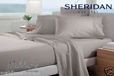 SHERIDAN ADKINS Luxuriously Soft 700TC Queen Sheet Set - Dove - RRP$429.95