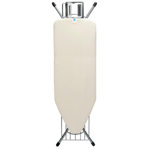 Ironing Board C with Steam Iron Rest and Linen Rack
