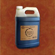 Official concrete acid stain red, orange, terra cotta color 1 gallon Red Rock