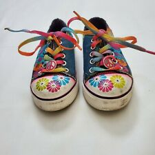Little Kid's Stride Rite Flower Power Peace Lace-Up Sneaker 8M