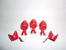 PLAYMOBIL 5 chapeau Gardes Prêtre Pape chevalier croisé rouge