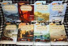 HOT WHEELS - STAR WARS PLANETS - FULL SET OF 8 CARS