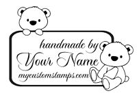 PERSONALIZED  CUSTOM MADE  RUBBER STAMPS HANDLE MOUNTED HM04