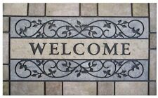Welcome Door Mat 24 in. x 36 in. Non-Skid Back Simulated Stone Design Durable