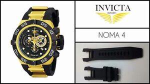 New Black Silicone Rubber Watch Band Strap For Invicta Subaqua Noma IV 1154