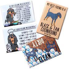 Black and Tan Coonhound Dog Dishwasher and Kitchen Measuring Magnet Gift Set