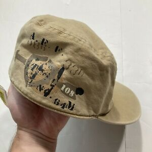 Vintage Ralph Lauren Polo Fitted Hat Cap Small/medium Military Flannel Kadef