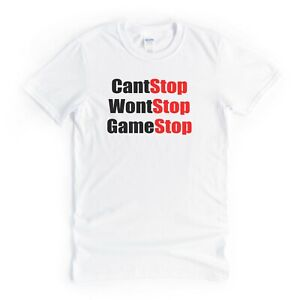 Cant Stop Game Stop TShirt Tee Cool Funny Gift Idea For Him Men Husband Husband