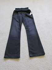 NEW WOMEN'S GAP MATERNITY LONG & LEAN DENIM BLACK JEAN PANTS SIZE 27/4 REG FLARE