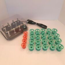 Clairol Lock N Roll Hair Rollers Pageant Hot Curlers Spoolies Model BT-1