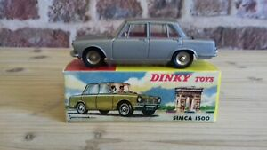 Authentique Dinky Toys SIMCA 1500 réf: 523 + boite TBE