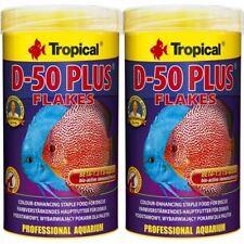 2 x Tropical D-50 plus 1000 ML Flocks Discus Flocks Fish Food (12,20 €/ L)