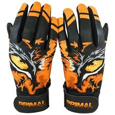 """Primal Baseball Adult Batting Gloves """"EYE OF THE TIGER"""" Size Small"""