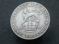 1919 WW1 Period Solid Sterling Silver Vintage  Shilling George V C069