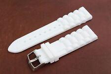 Banda Cinturino Bianco Per Seiko OROLOGI IN SILICONE IN GOMMA 22 mm