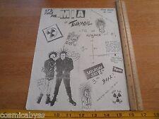 MIA Turmoil ATG Hangover OC CA 1980s ORIGINAL Punk Rock concert poster