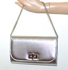 POCHETTE argento donna borsa borsello da sera tracolla argento clutch bag G12
