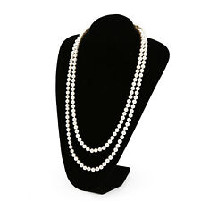 Noble Pearl white drop pearl necklace Beaded  150cm Long Chain Rope Bead Style