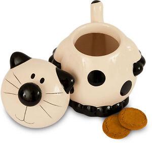 2Kewt Cat Ceramic Cookie Jar