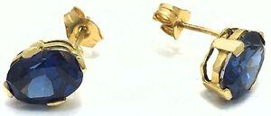 2.78 Carats TANZANITE 14k Yellow Gold Earrings * FREE SHIPPING SERVICE