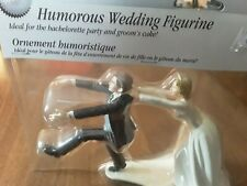 WEDDING CAKE TOPPER FUNNY BRIDE GROOM FIGURES RECEPTION PARTY GIFT VINTAGE